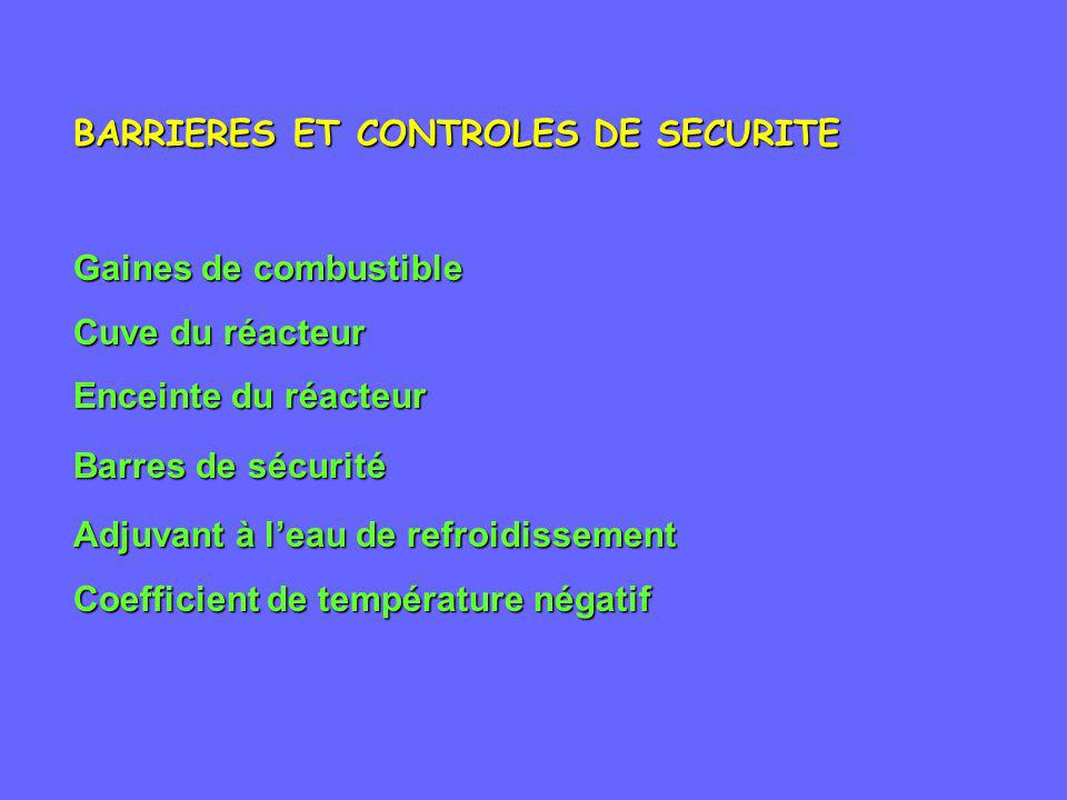 BARRIERES ET CONTROLES DE SECURITE