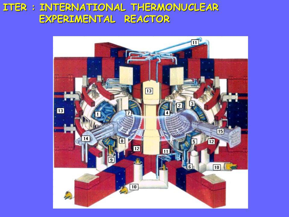ITER : INTERNATIONAL THERMONUCLEAR EXPERIMENTAL REACTOR