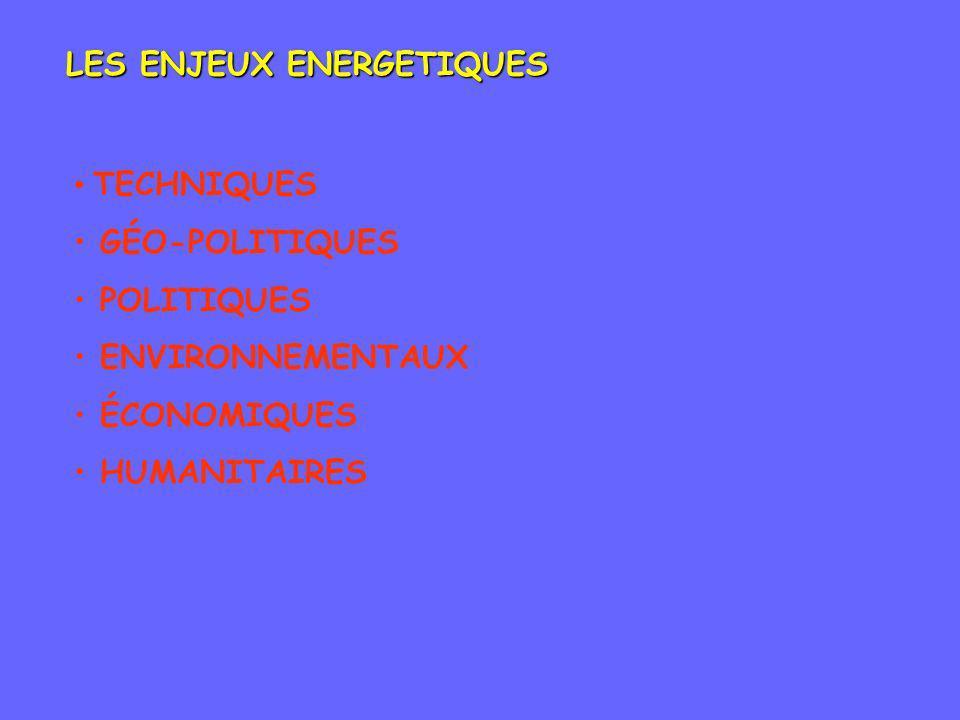 LES ENJEUX ENERGETIQUES