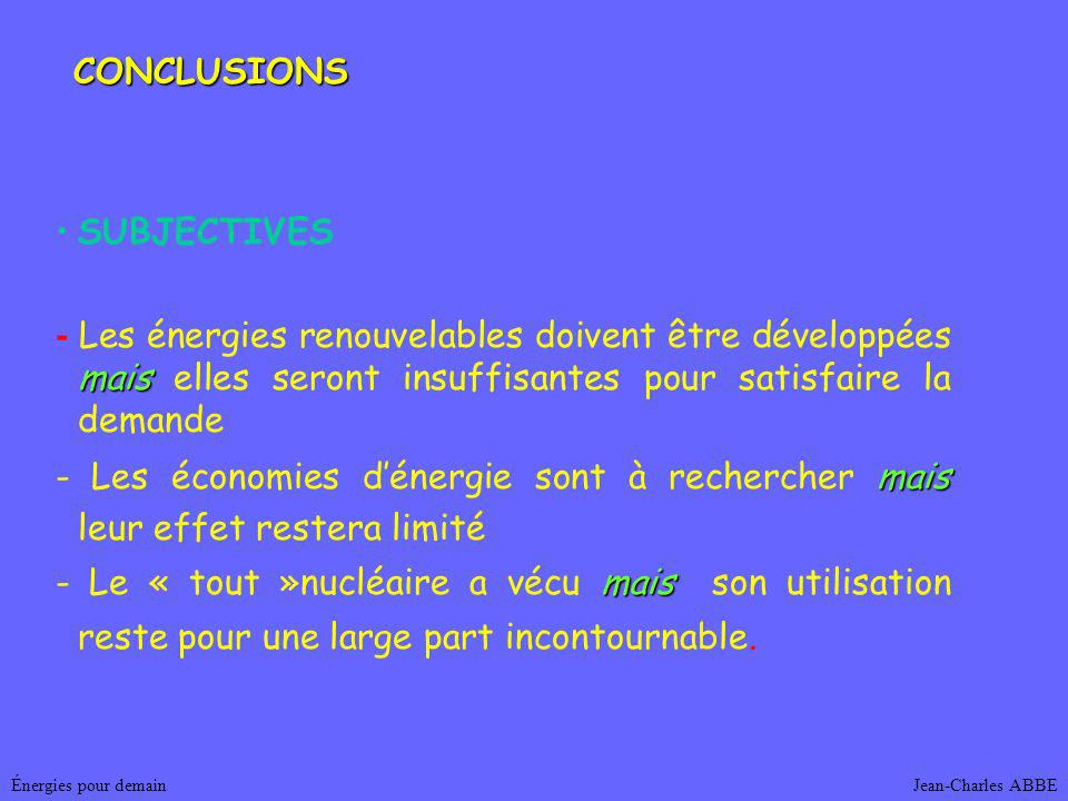 CONCLUSIONS SUBJECTIVES