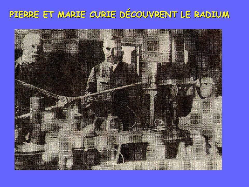 PIERRE ET MARIE CURIE DÉCOUVRENT LE RADIUM