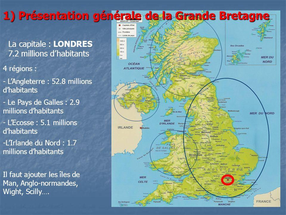 1) Présentation générale de la Grande Bretagne