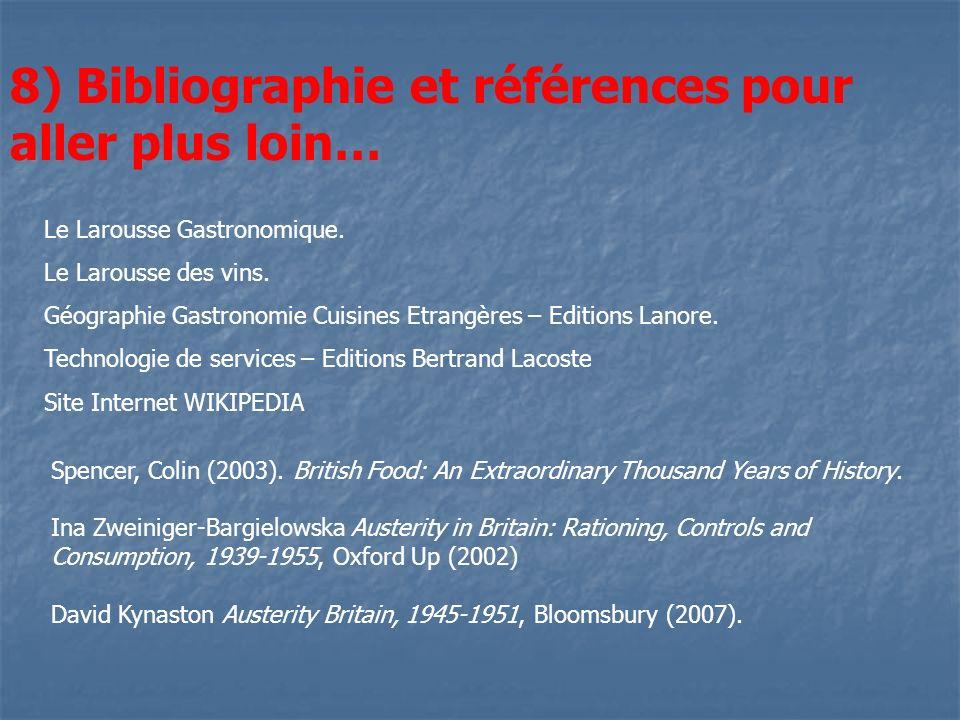 8) Bibliographie et références pour aller plus loin…