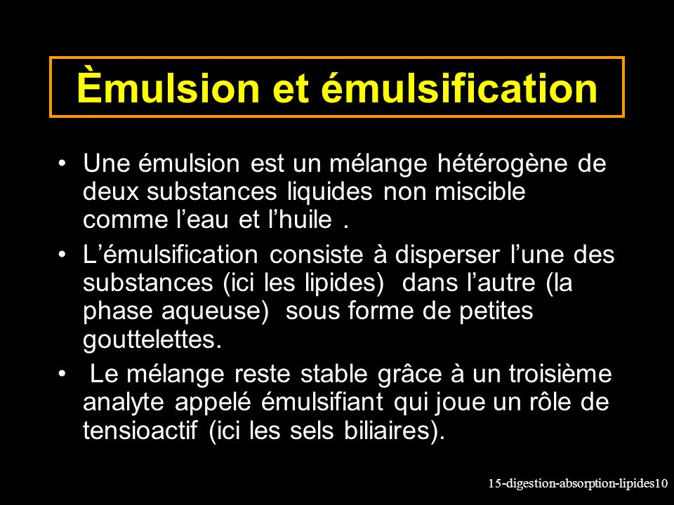 Èmulsion et émulsification