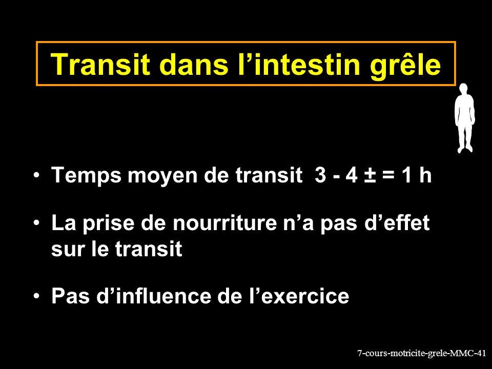 Transit dans l'intestin grêle