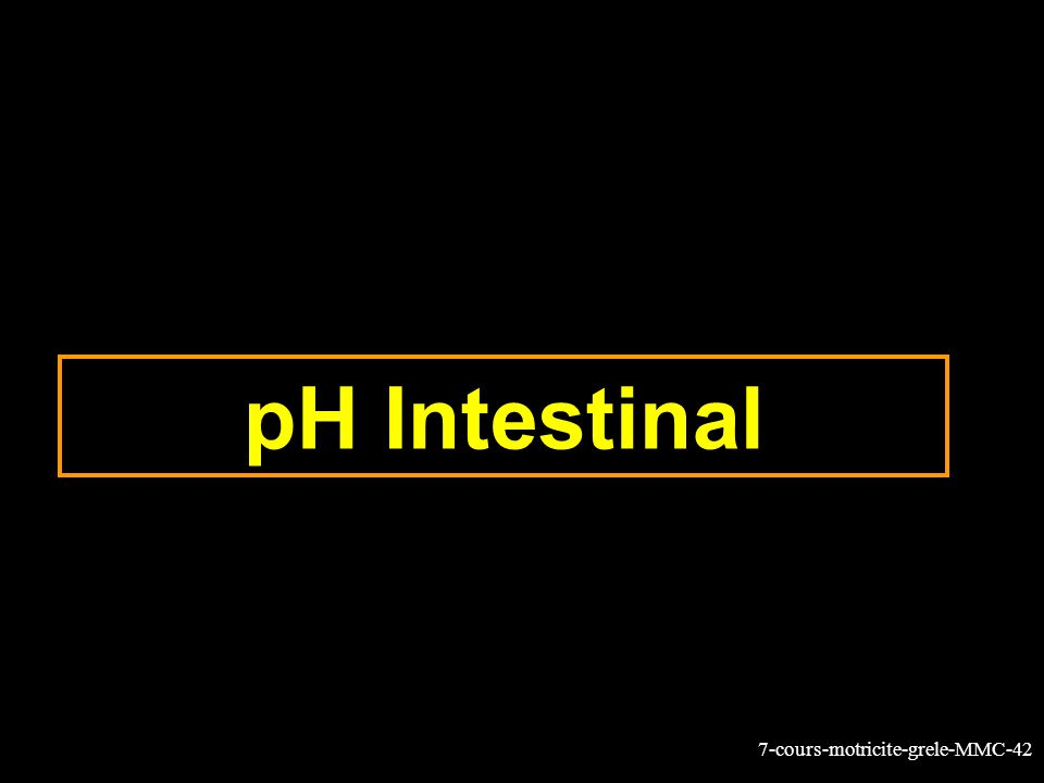 pH Intestinal
