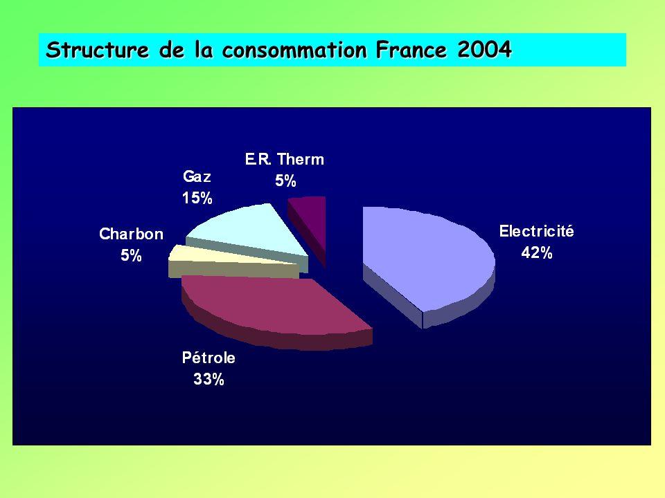 Structure de la consommation France 2004