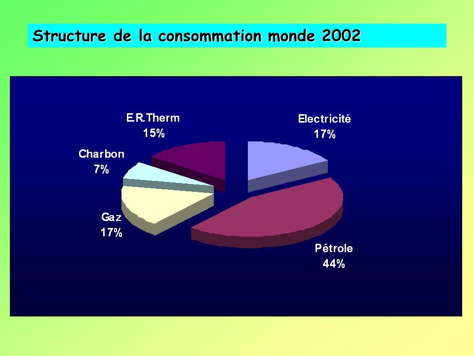Structure de la consommation monde 2002