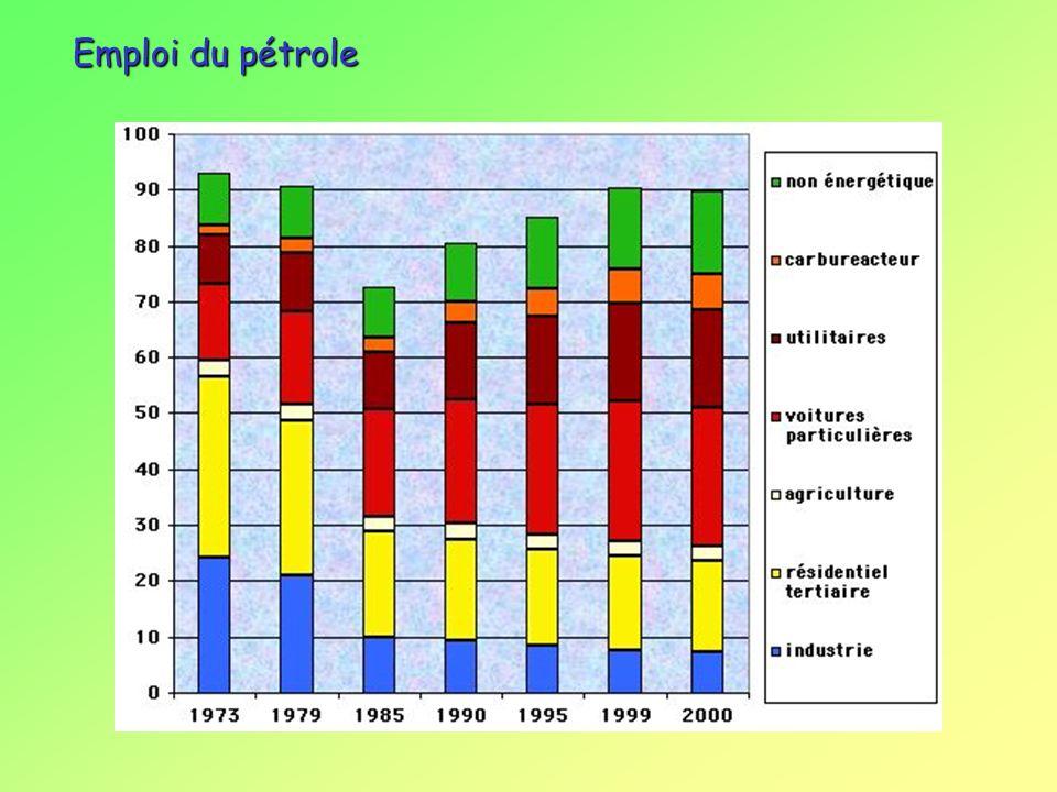 Emploi du pétrole environnement et énergies