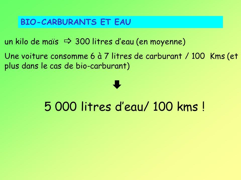 5 000 litres d'eau/ 100 kms ! BIO-CARBURANTS ET EAU