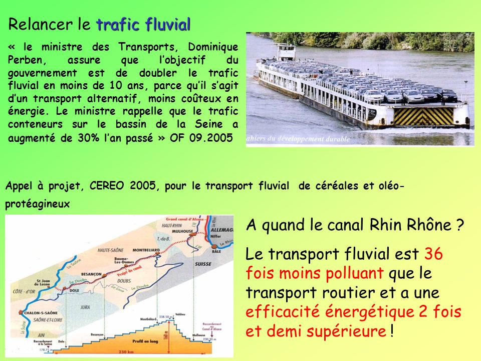 Relancer le trafic fluvial