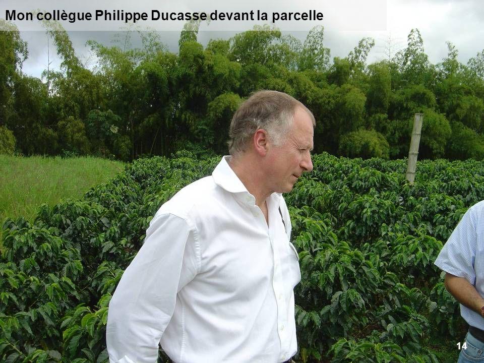 Mon collègue Philippe Ducasse devant la parcelle