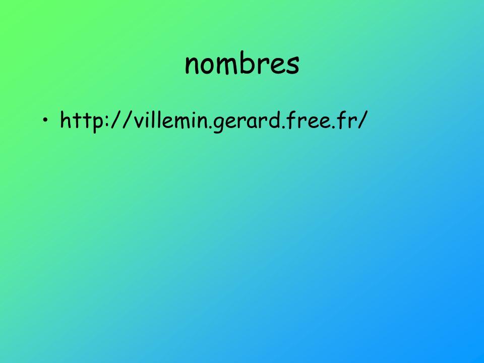 nombres http://villemin.gerard.free.fr/