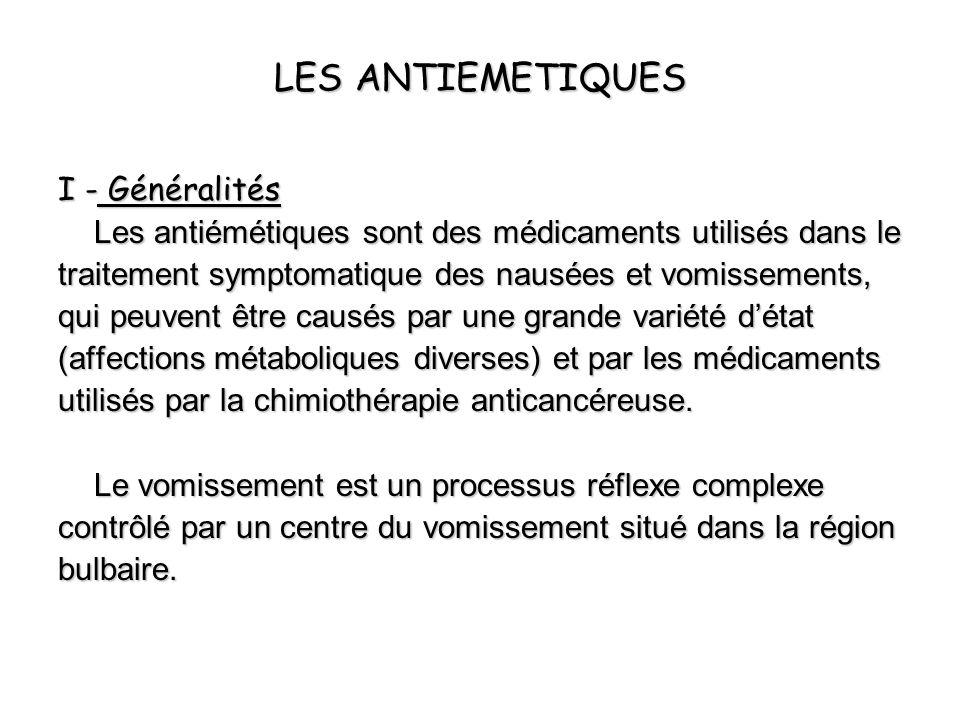 LES ANTIEMETIQUES I - Généralités
