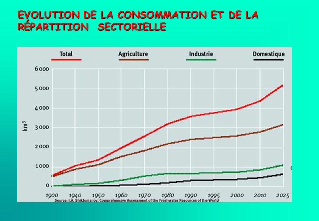 EVOLUTION DE LA CONSOMMATION ET DE LA RÉPARTITION SECTORIELLE