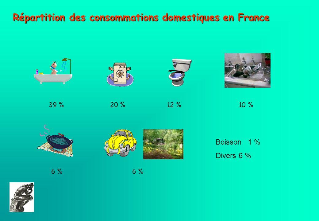 Répartition des consommations domestiques en France