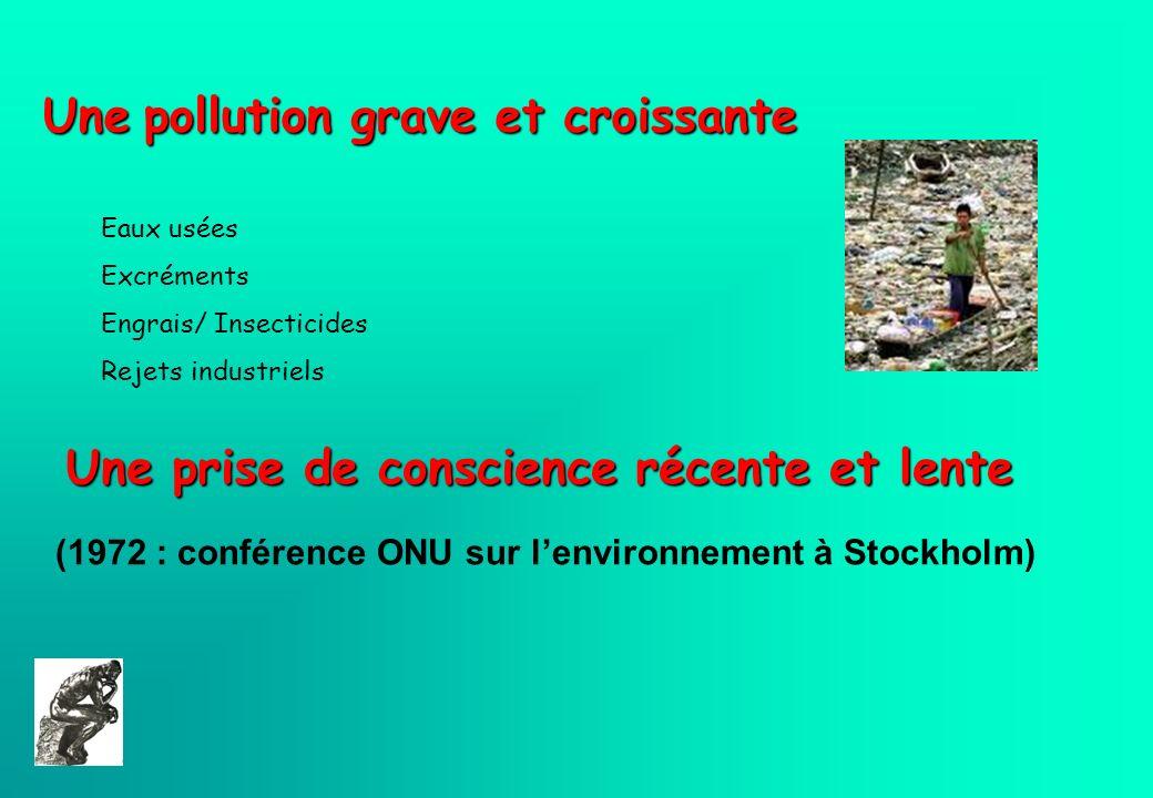 Une pollution grave et croissante