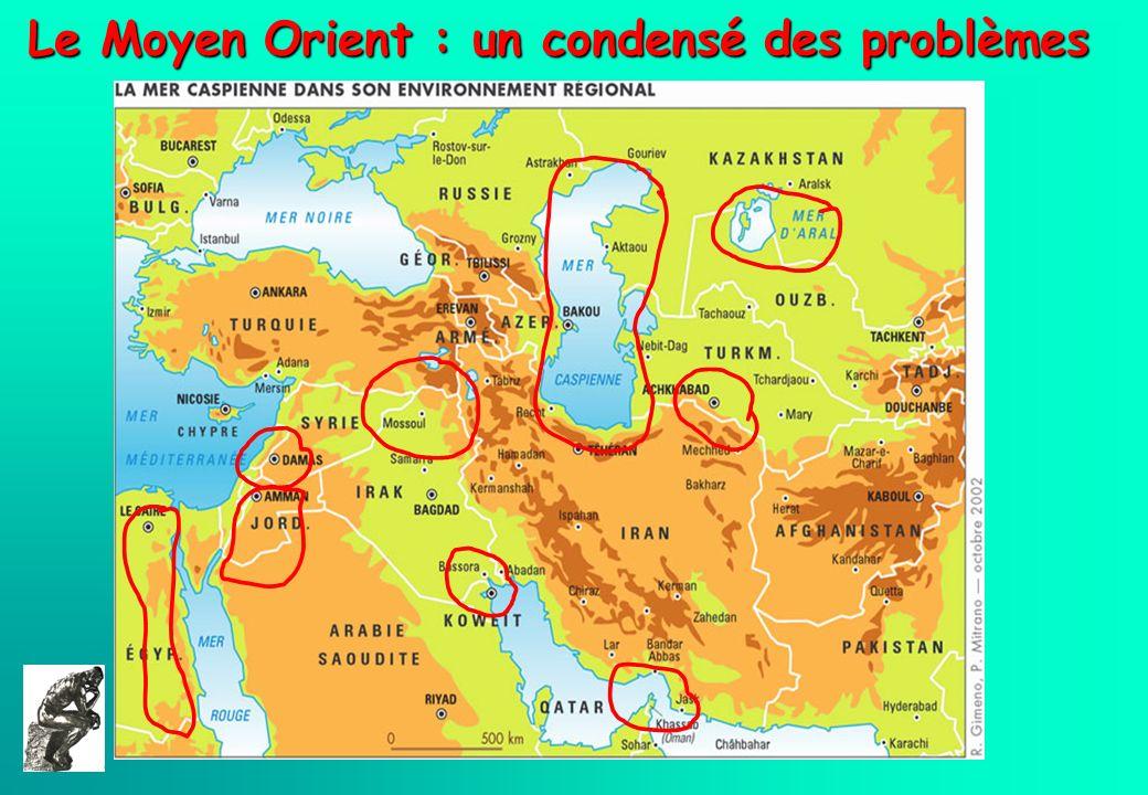 Le Moyen Orient : un condensé des problèmes