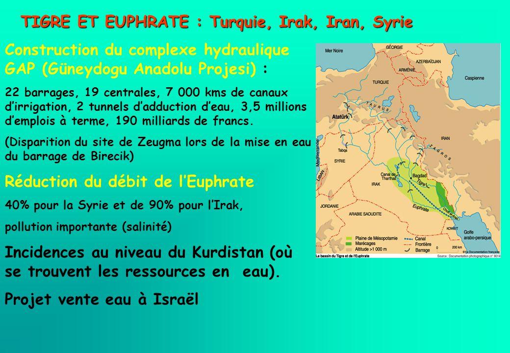 TIGRE ET EUPHRATE : Turquie, Irak, Iran, Syrie