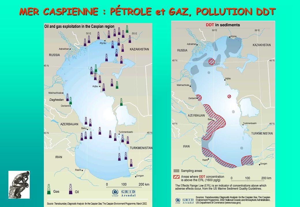 MER CASPIENNE : PÉTROLE et GAZ, POLLUTION DDT