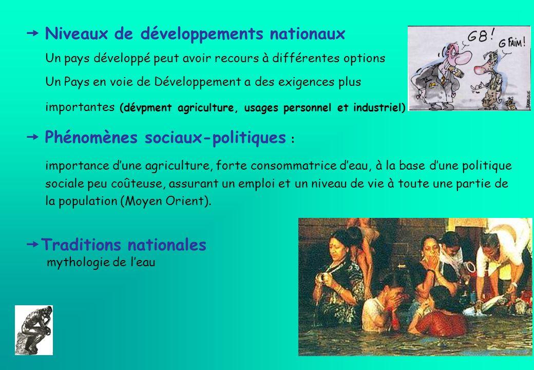  Niveaux de développements nationaux