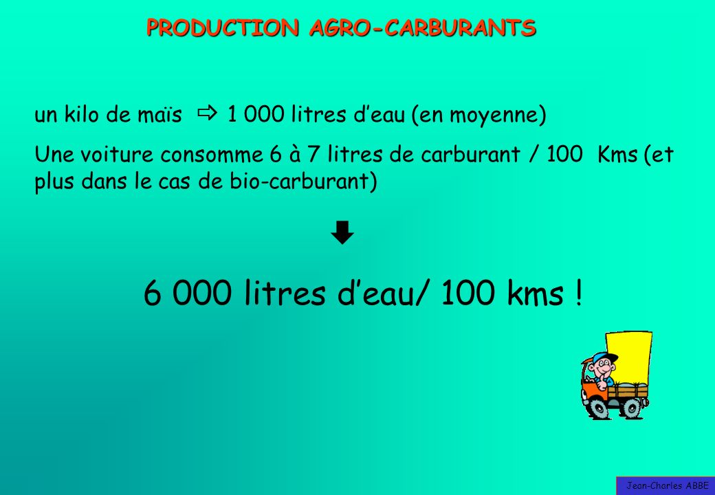 PRODUCTION AGRO-CARBURANTS
