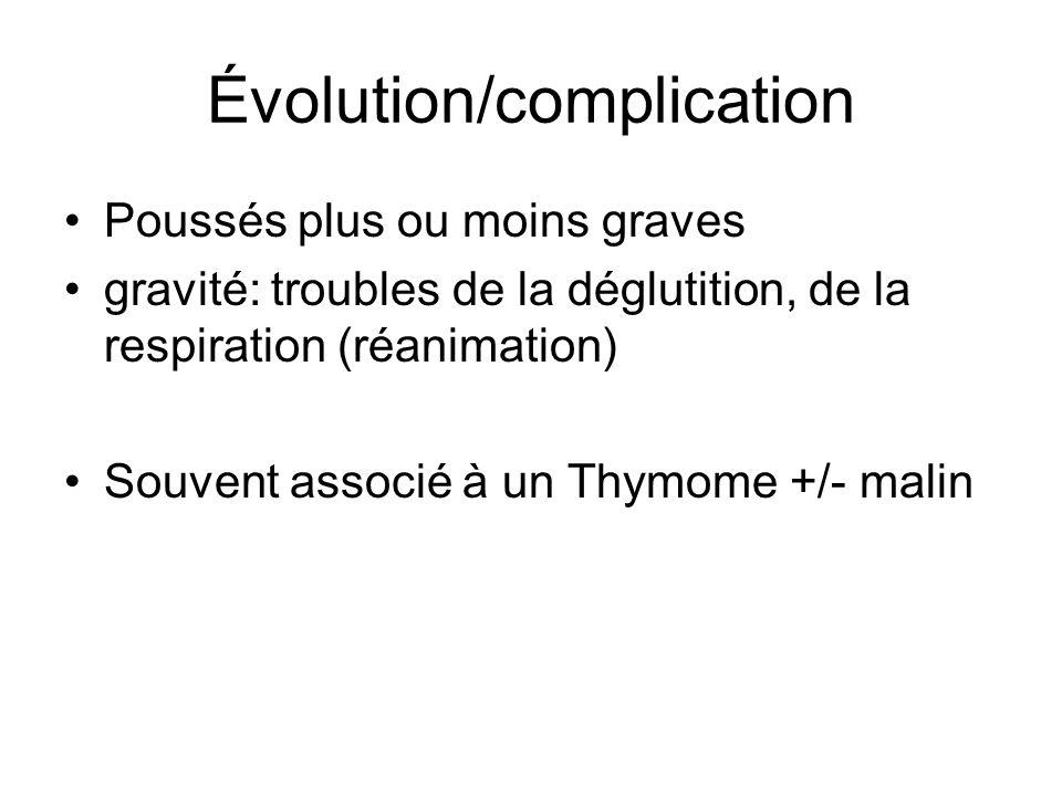 Évolution/complication