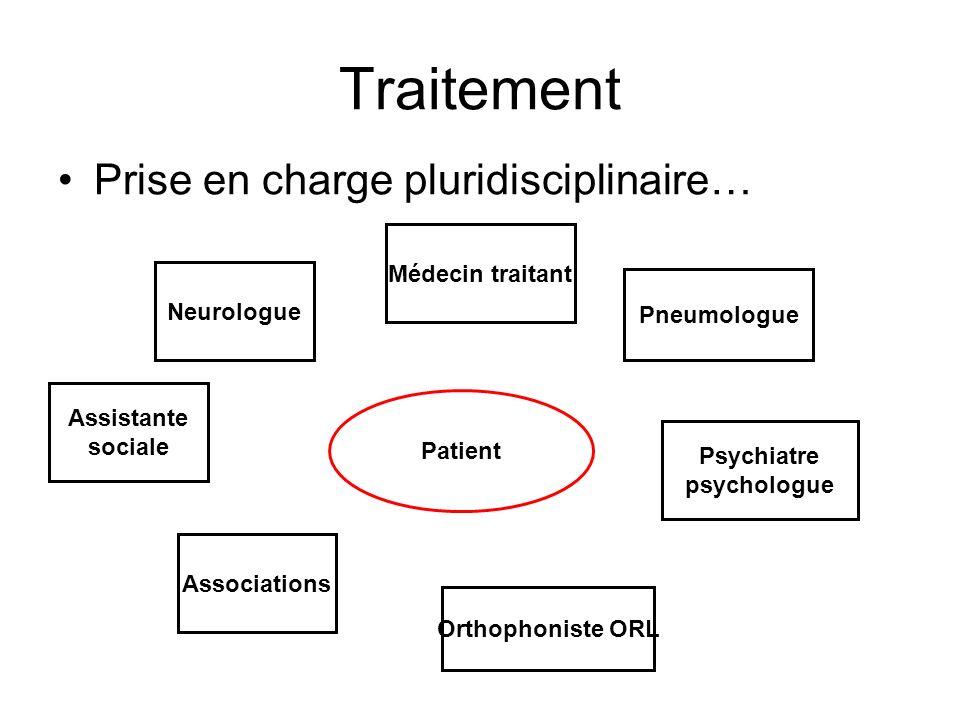 Traitement Prise en charge pluridisciplinaire… Médecin traitant