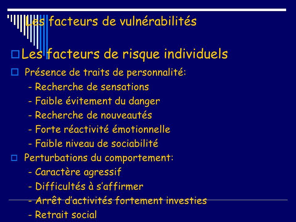 Les facteurs de vulnérabilités