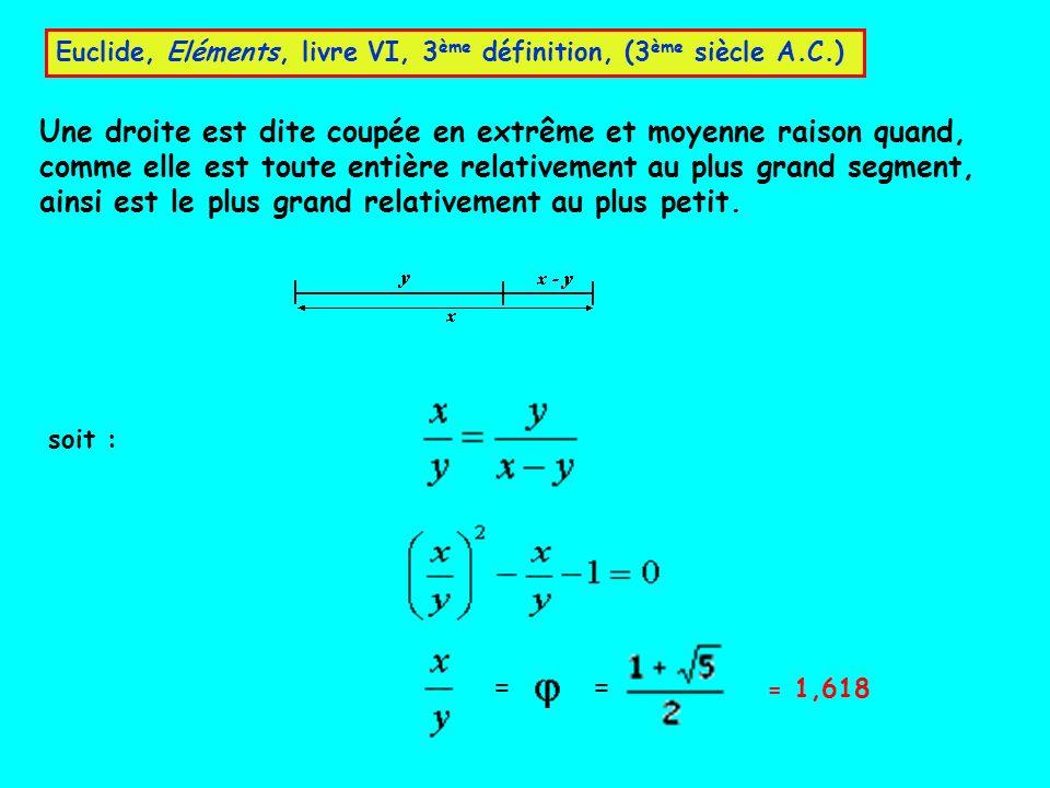 Euclide, Eléments, livre VI, 3ème définition, (3ème siècle A.C.)