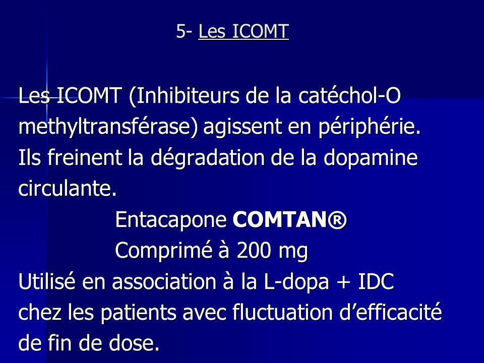 Les ICOMT (Inhibiteurs de la catéchol-O