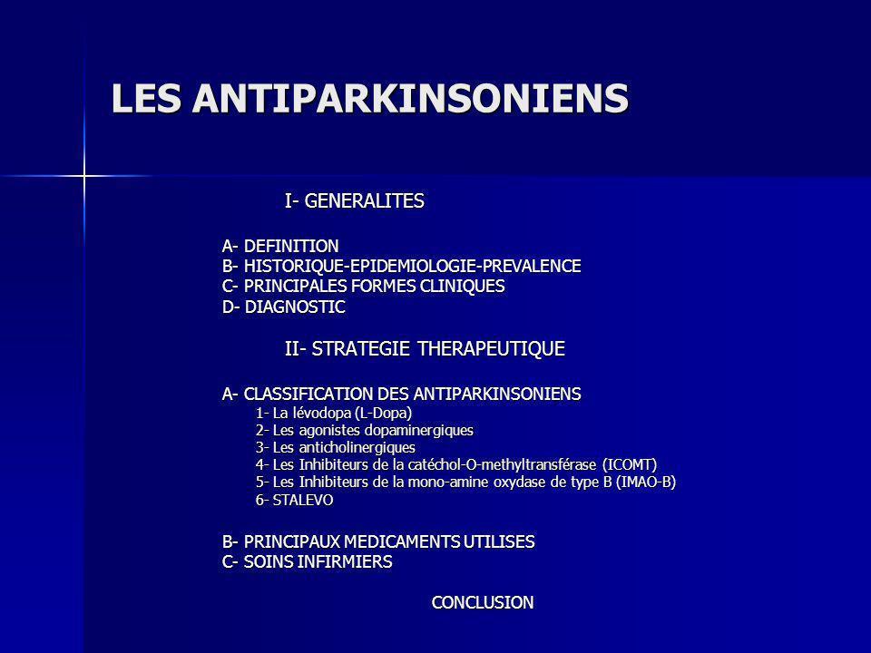 LES ANTIPARKINSONIENS