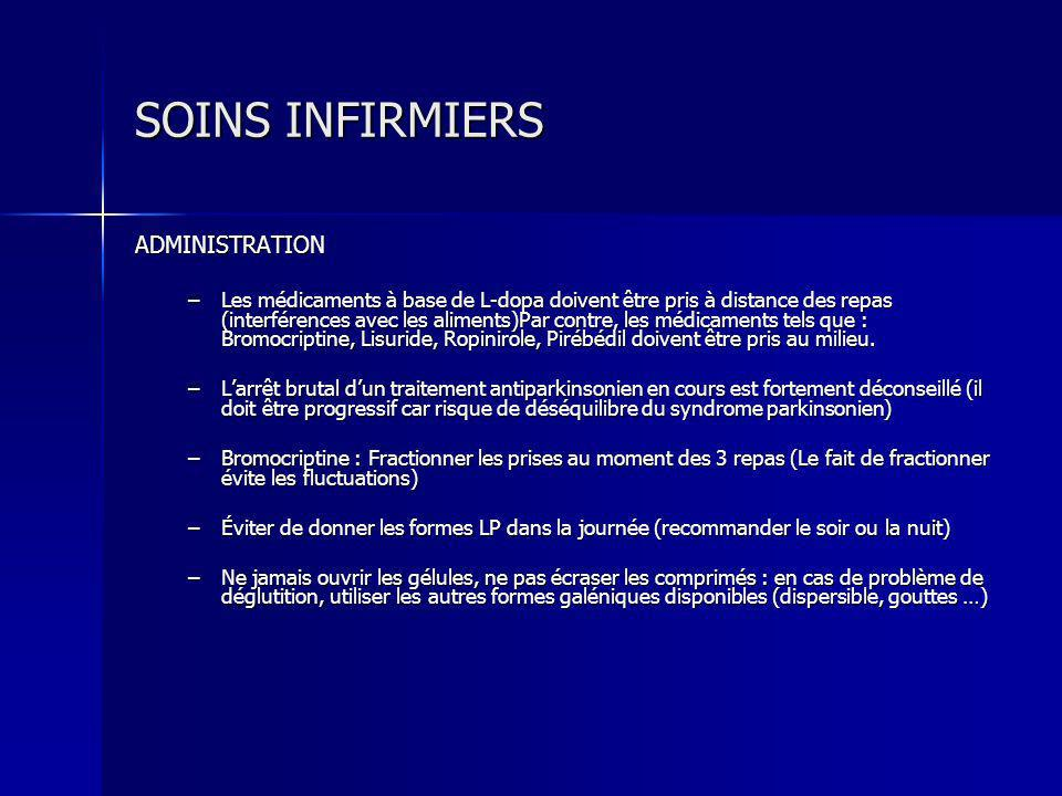 SOINS INFIRMIERS ADMINISTRATION