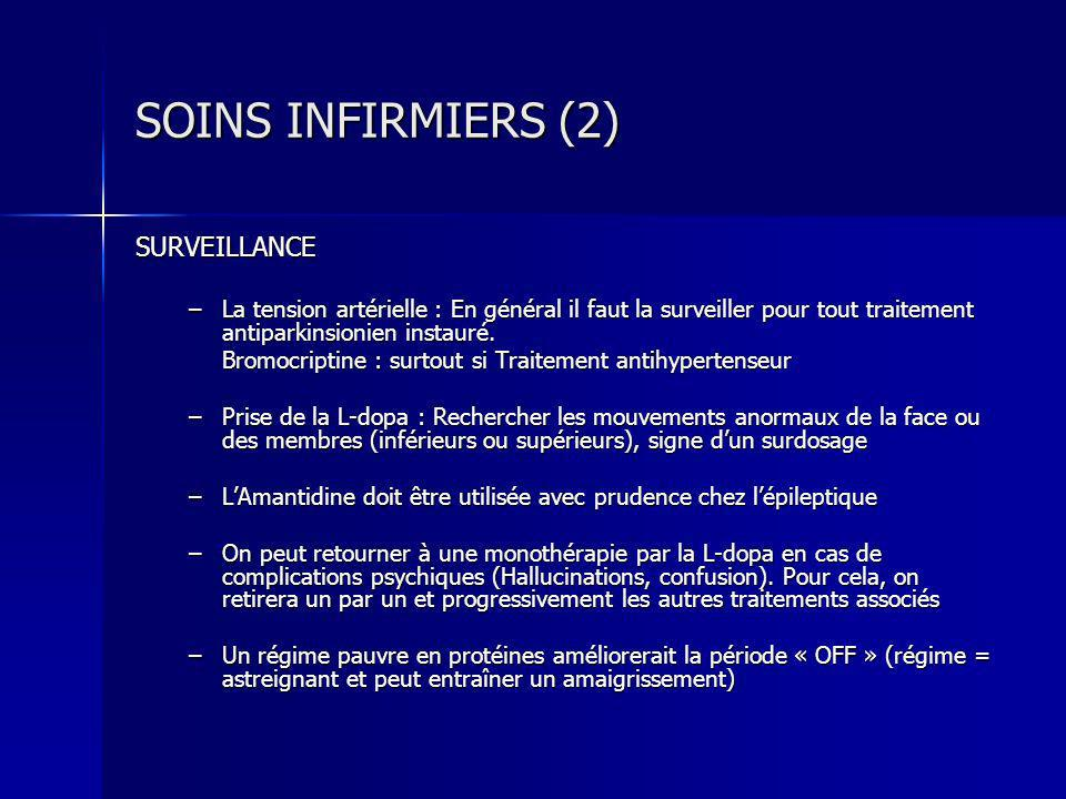 SOINS INFIRMIERS (2) SURVEILLANCE