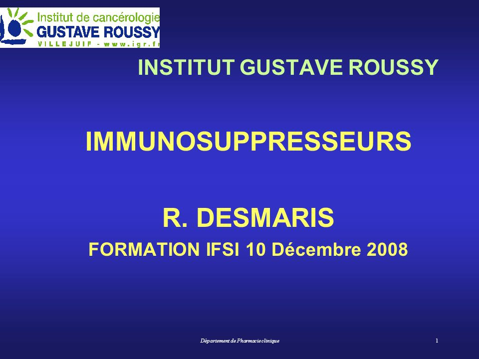 FORMATION IFSI 10 Décembre 2008