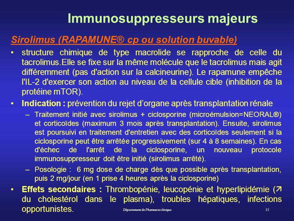 Immunosuppresseurs majeurs