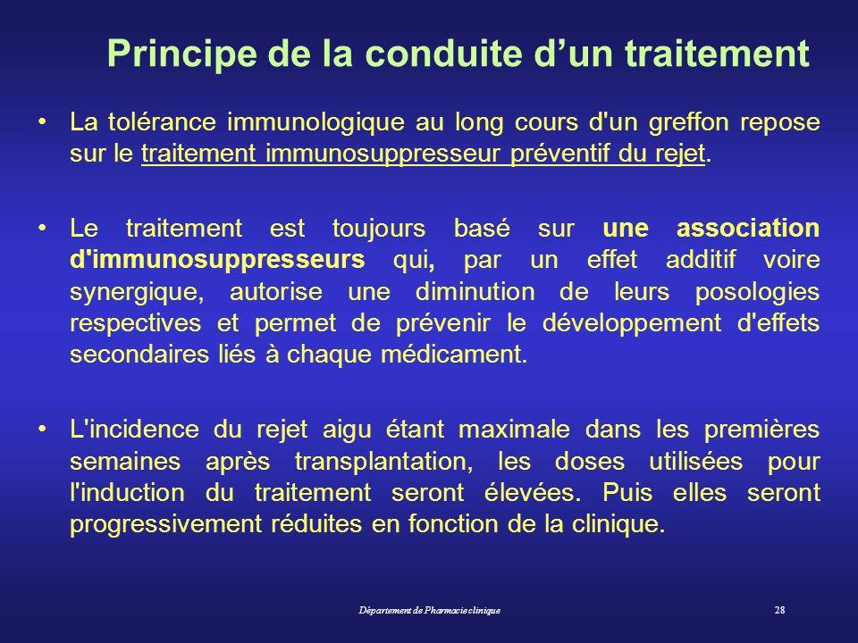 Principe de la conduite d'un traitement