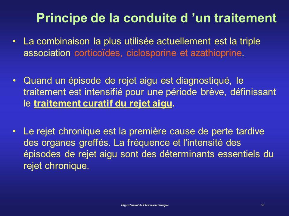 Principe de la conduite d 'un traitement
