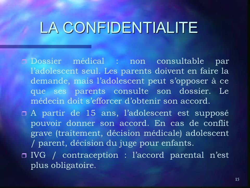 LA CONFIDENTIALITE