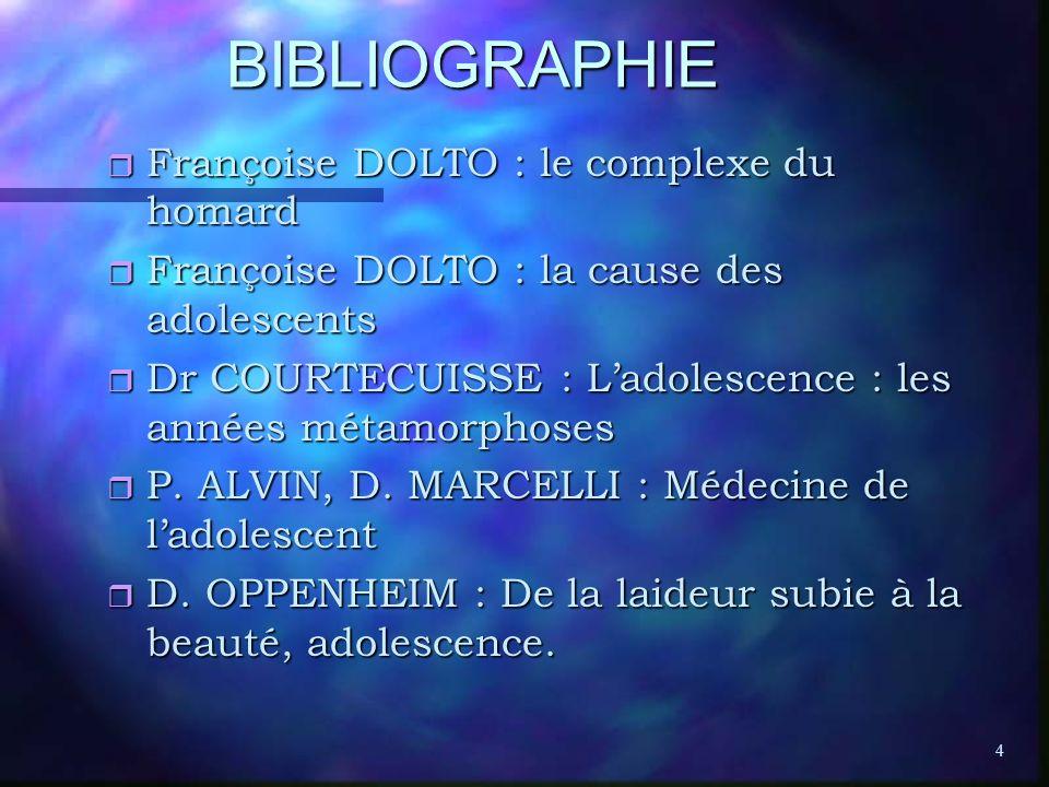 BIBLIOGRAPHIE Françoise DOLTO : le complexe du homard