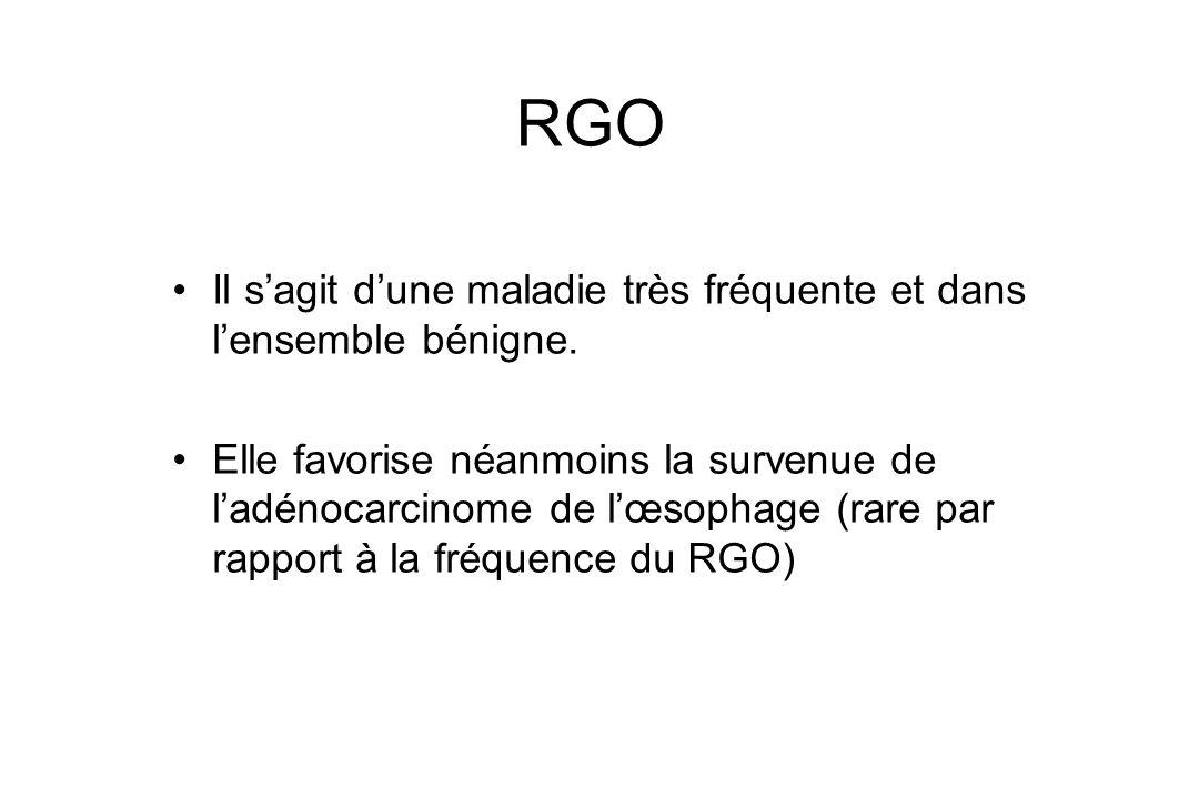 RGO Il s'agit d'une maladie très fréquente et dans l'ensemble bénigne.