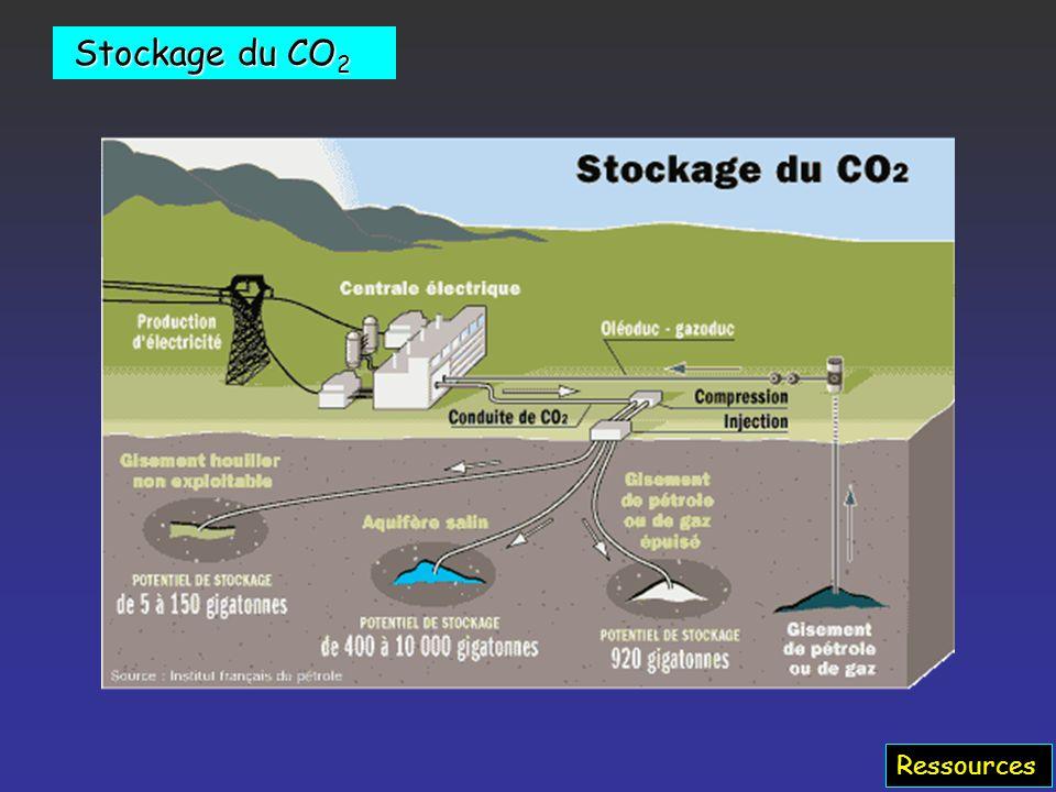 Stockage du CO2 Ressources