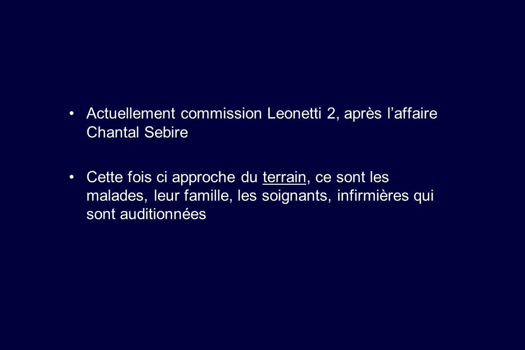 Actuellement commission Leonetti 2, après l'affaire Chantal Sebire
