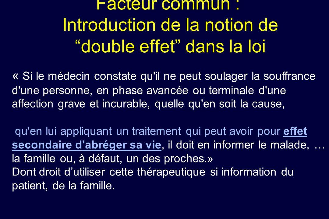 Facteur commun : Introduction de la notion de double effet dans la loi