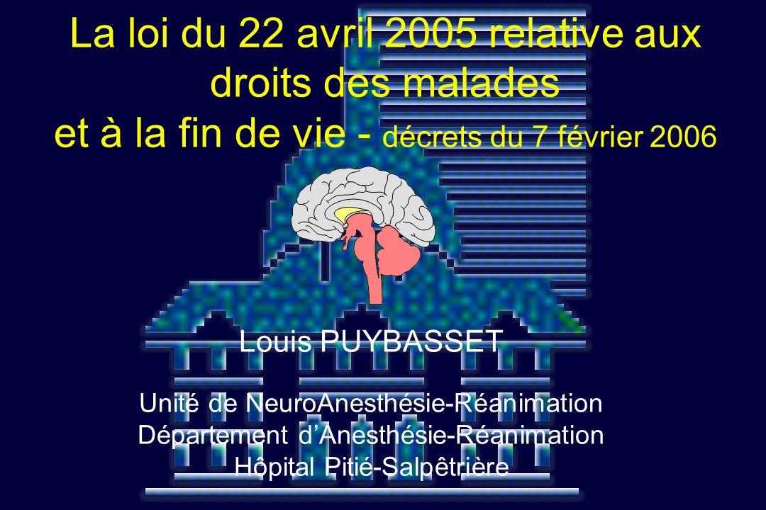 La loi du 22 avril 2005 relative aux droits des malades