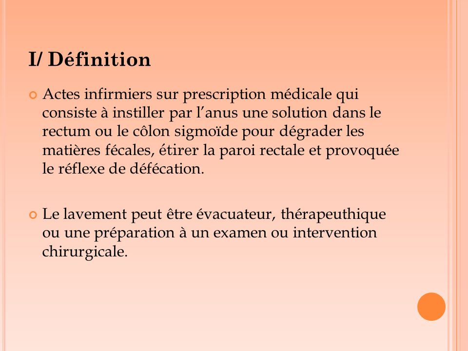I/ Définition