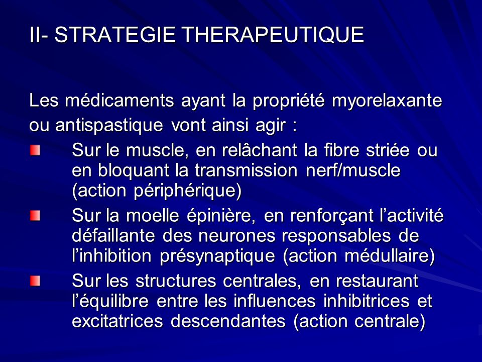 II- STRATEGIE THERAPEUTIQUE