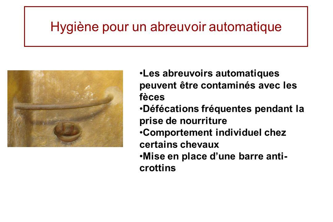 Hygiène pour un abreuvoir automatique