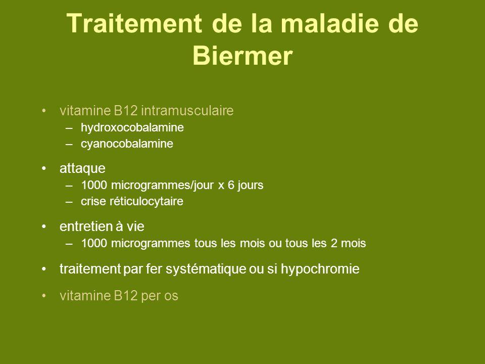 Traitement de la maladie de Biermer