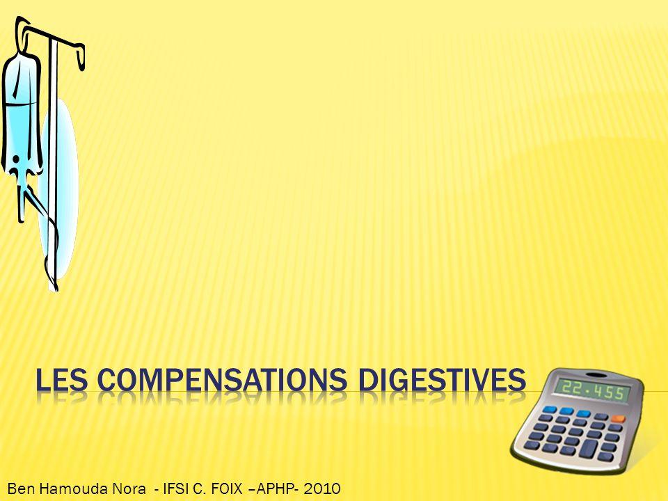 Les compensations digestives
